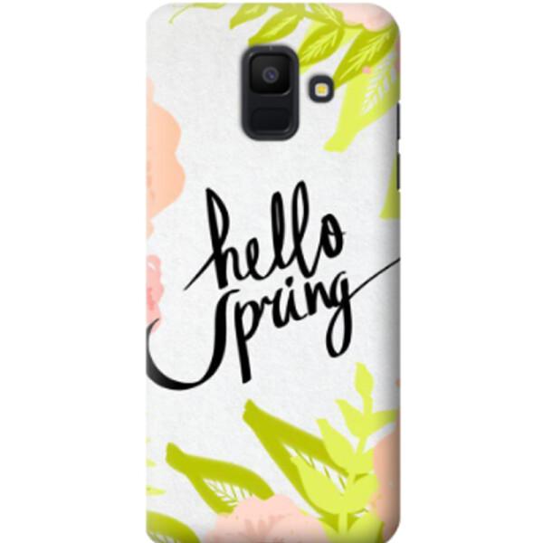 MMC / Дизайнерский чехол Hello Spring для Samsung Galaxy A6 (2018) (666260)