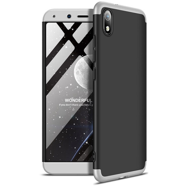 NN / Чехол-накладка GKK 3 in 1 Hard PC Case Xiaomi Redmi 7A Silver/Black