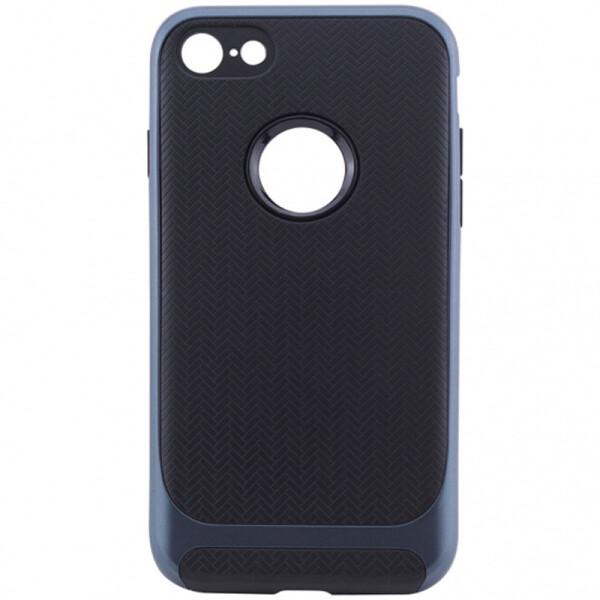 Купить Чехлы для телефонов, TPU+PC чехол Deen Royce Series для Apple iPhone 8 (4.7) (Черный / Синий) (547401)