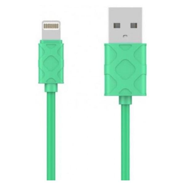 Купить Кабели и переходники, USB кабель Baseus Lightning Yaven 2.1A, 1m. Green, xCase