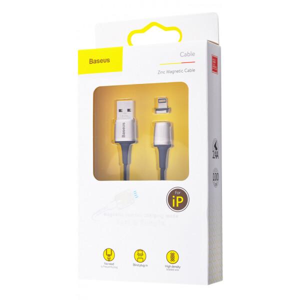 Купить Кабели и переходники, USB кабель Baseus Zinc Magnetic Lightning 2.4A (1m) black, xCase