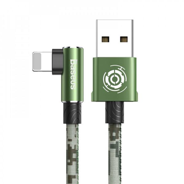 Купить Кабели и переходники, USB кабель Baseus Camouflage Lightning Cable 2.4A 1m green, xCase