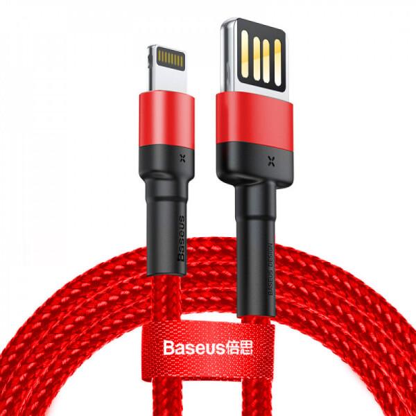 Купить Кабели и переходники, USB кабель Baseus Cafule Lightning Special Edition 2.4A 1m red, NN