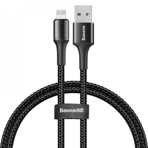 Купить Кабели и переходники, USB кабель Baseus Halo Data Lightning 2.4A 1m black, NN