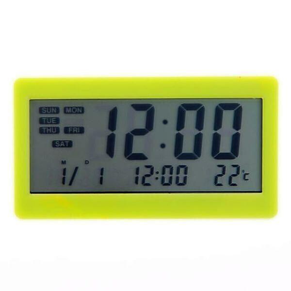 Часы Generic DC-208 будильник термометр календарь Зеленый (20053100109)