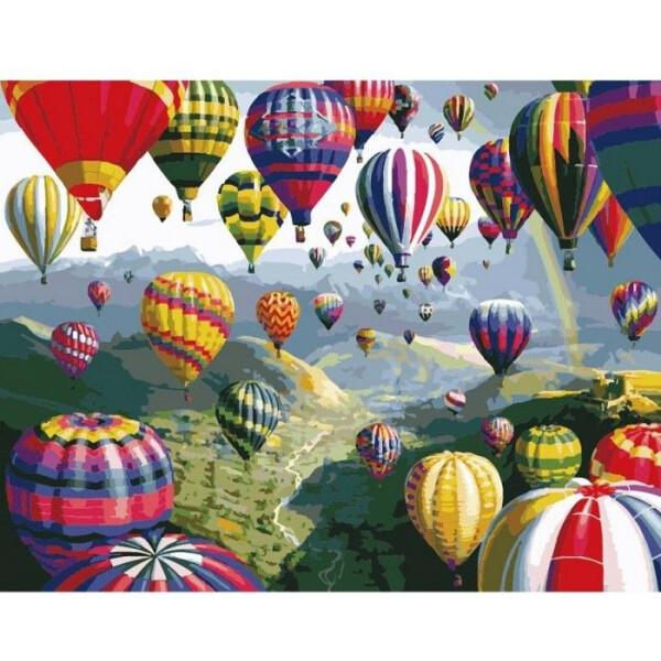 Купить Наборы для творчества и рукоделия, Картина по номерам Пейзаж Воздушные шары 40 * 50см KHO1056, Идейка