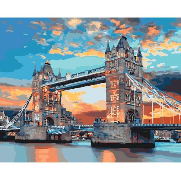 Купить Наборы для творчества и рукоделия, Картина по номерам Городской пейзаж Лондонский мост 40*50см * KHO3515, Идейка
