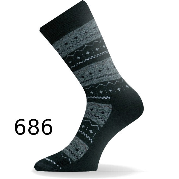 Термоноски треккинг Lasting TWP 686 - XL - черный/серый