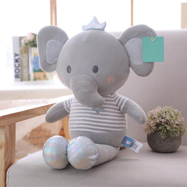 Купить Мягкие игрушки, Мягкая плюшевая игрушка Berni Серый слоник 50 см Серый (51751)