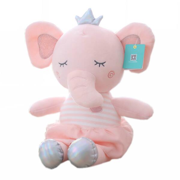 Купить Мягкие игрушки, Мягкая плюшевая игрушка Berni Розовый слоник 50 см Розовая (51750)