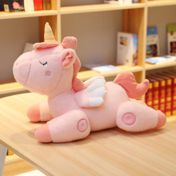 Купить Мягкие игрушки, Мягкая плюшевая игрушка Berni Розовый единорог 45см (51630)