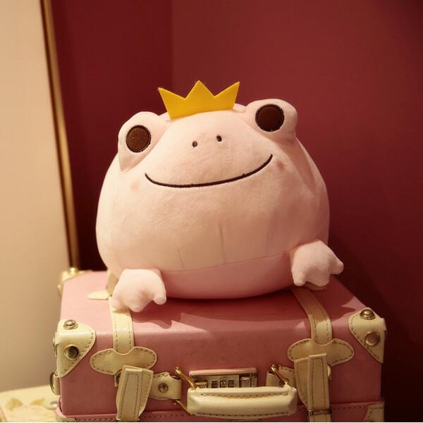 Купить Мягкие игрушки, Мягкая плюшевая игрушка Berni Розовая лягушка 42см (51757)