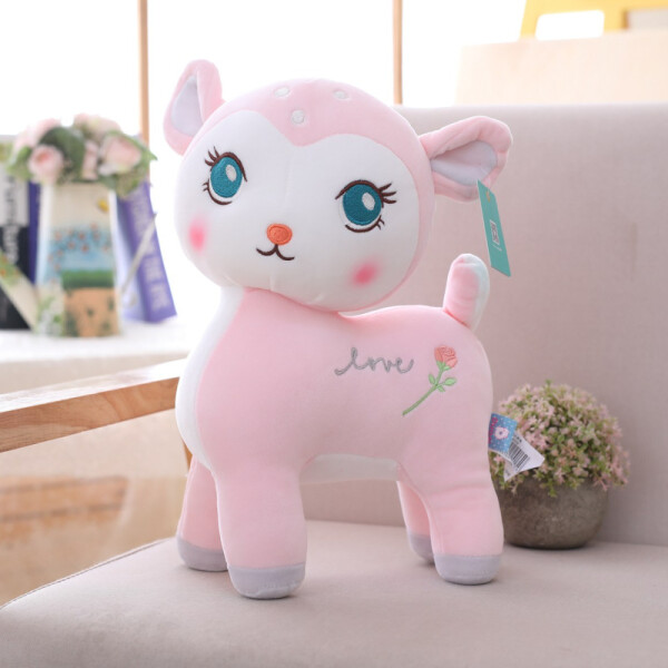 Купить Мягкие игрушки, Мягкая плюшевая игрушка Berni Оленёнок Love Розовый (51639)
