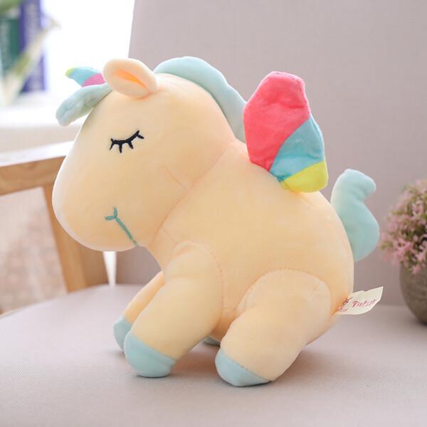 Купить Мягкие игрушки, Мягкая плюшевая игрушка Berni Желтый единорог 40см (51625)