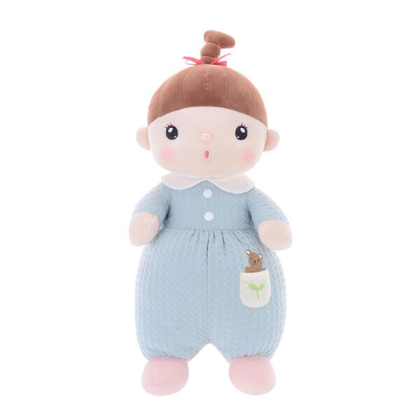 Купить Мягкие игрушки, Мягкая игрушка кукла для девочки Metoys Мягкая кукла Kawaii Blue 34 см Голубая (47141)