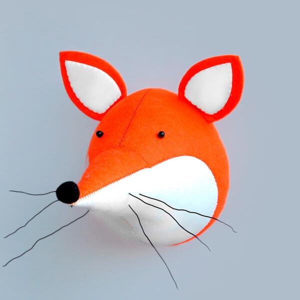 Купить Мягкие игрушки, Мягкая игрушка декоративное настеннное украшнение Berni Лиса Оранжевая (49353)