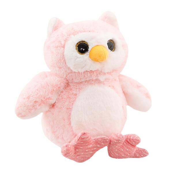 Купить Мягкие игрушки, Мягкая игрушка Berni Розовый совушек 30см (51862)