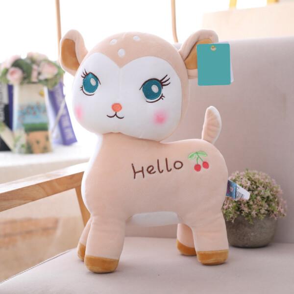 Купить Мягкие игрушки, Мягкая игрушка Berni Оленёнок Hello Бежевый (51640)