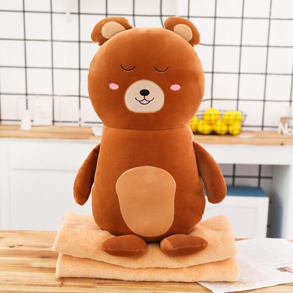 Купить Мягкие игрушки, Мягкая игрушка - подушка с пледом Berni Плюшевый медведь 50см (51864)