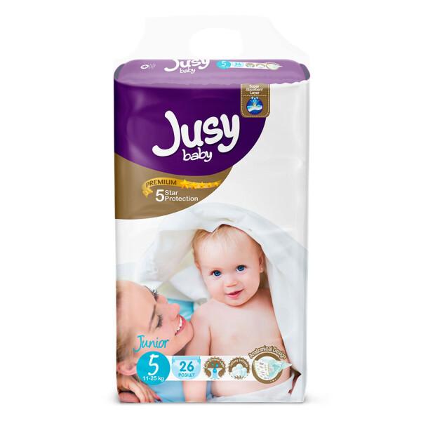 NN / Детские подгузники Jusy Twin Baby Diaper Junior 26 шт. (JTB_Junior_26)
