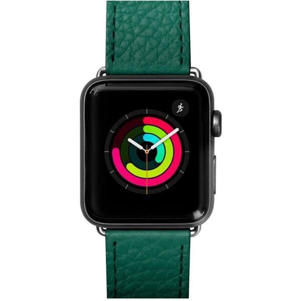 Купить Аксессуары к смарт-часам и фитнес-браслетам, Кожаный ремешок Laut Milano Emerald для Apple Watch 44mm/42mm Series 5/4/3/2/1
