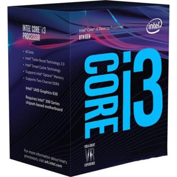 Купить Процессоры, Intel Core i3 8100 3.6GHz (6MB, Coffee Lake, 65W, S1151) Box (BX80684I38100)