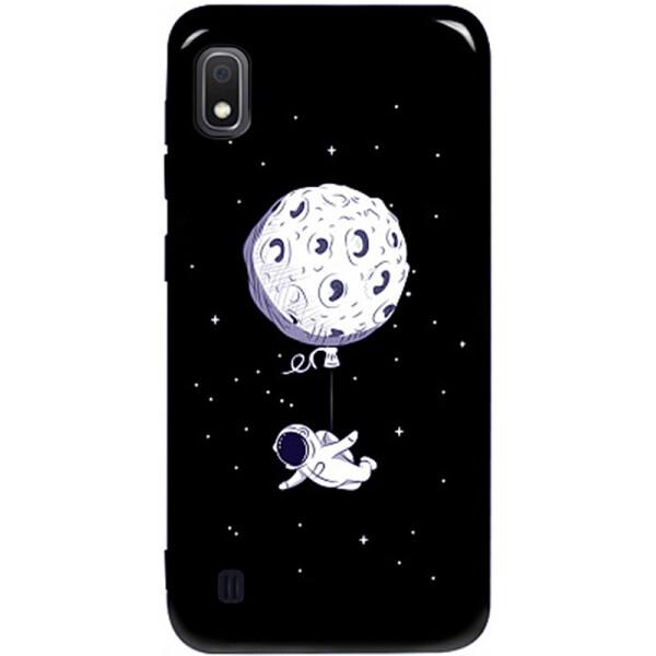 TOTO Pure TPU 2mm Print Case Samsung Galaxy A10 #47 Space Moon Black