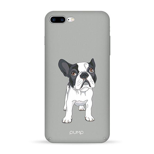 Купить Чехлы для телефонов, Чехол Pump Tender Touch для Apple iPhone 7 plus / 8 plus (5.5) (Mops on Gray) (766195)