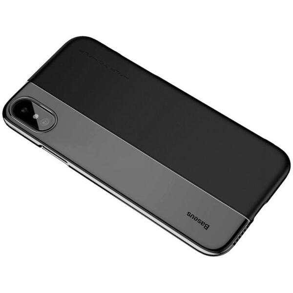 Купить Чехлы для телефонов, Чехол Baseus Half to Half Case для iPhone X Black+Transparent Black (ARAPIPHX-RY01)