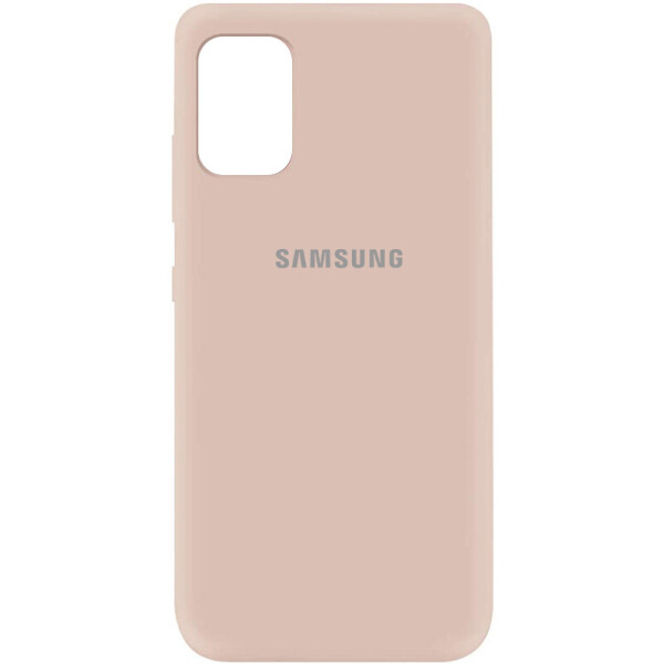 Чехол Silicone Cover My Color Full Protective (A) для Samsung Galaxy A41 Розовый / Pink Sand (is_00000037407_21)