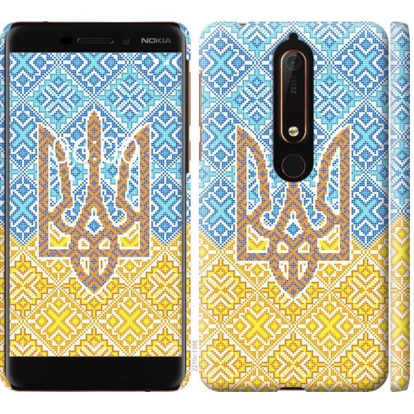 Купить Чехлы для телефонов, Чехол на Nokia 6 2018 Герб Украины 2 (04798), MMC