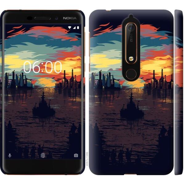 Чехлы для телефонов, Чехол на Nokia 6 2018 Череп-абстракция (04798), MMC  - купить со скидкой