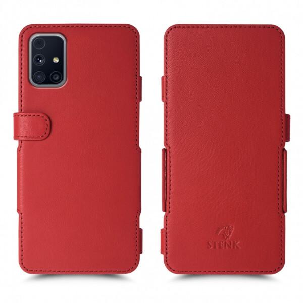 Чехол книжка Stenk Prime для Samsung Galaxy M31s Красный