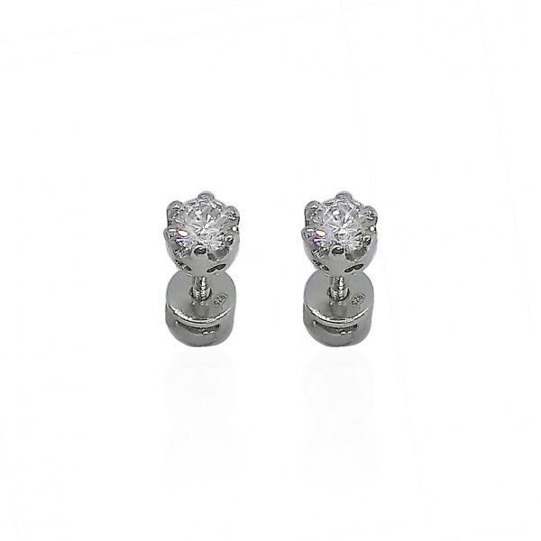 Сережки срібні з куб. цирконієм 586
