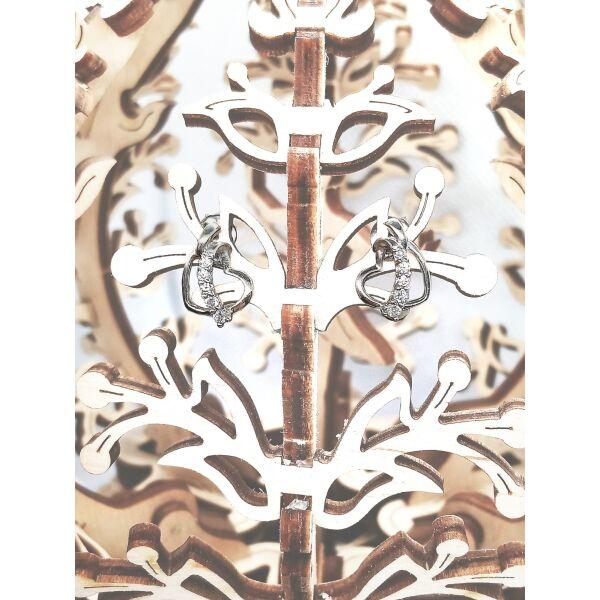 Сережки срібні з куб. цирконієм 1755