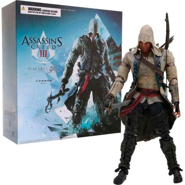 Купить Фигурки игровые, персонажи мультфильмов, Статуэтка-фигура Assassins Creed III: Play Arts Kai Connor 27см АС С 60.221, GeekLand