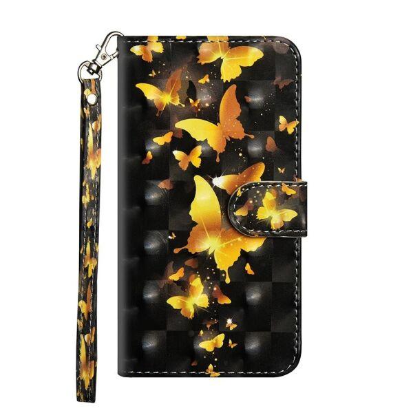 Чехол-книжка Color Book для Nokia 2.3 Золотые бабочки