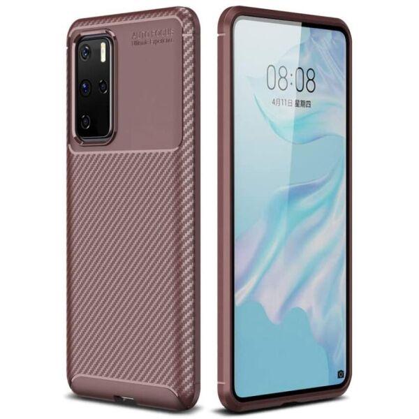 Чехол Carbon Case для Huawei P40 Pro Brown
