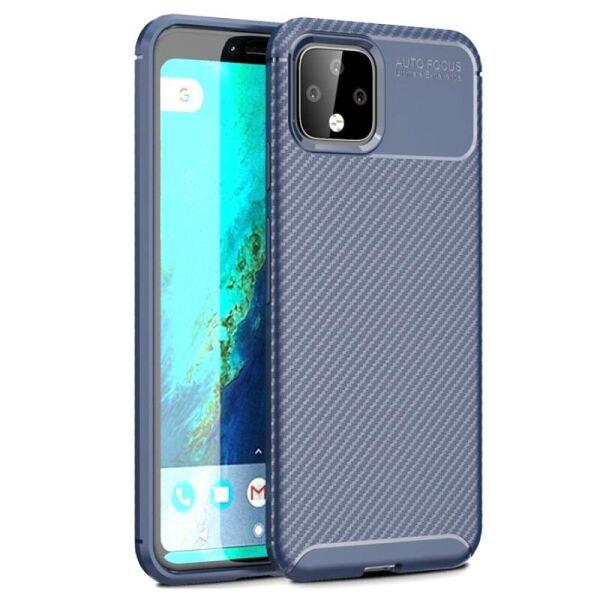 Чехол Carbon Case для Google Pixel 4 Blue