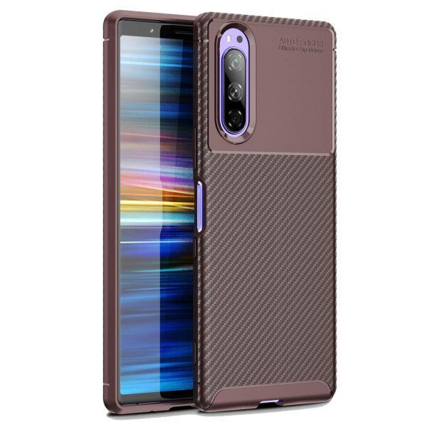 Чехол Carbon Case для Sony Xperia 5 Brown