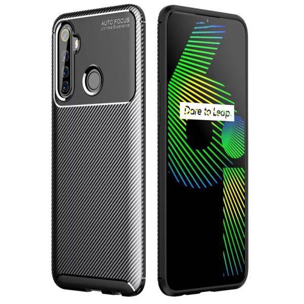 Чехол Carbon Case для Realme 6i Black