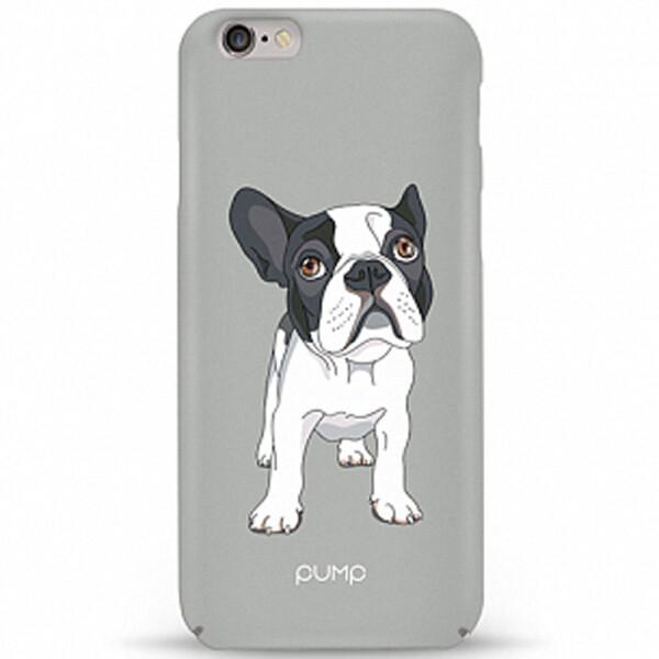 Купить Чехлы для телефонов, Чехол Pump Tender Touch для Apple iPhone 6/6s (4.7) (Mops on Gray) (686997)