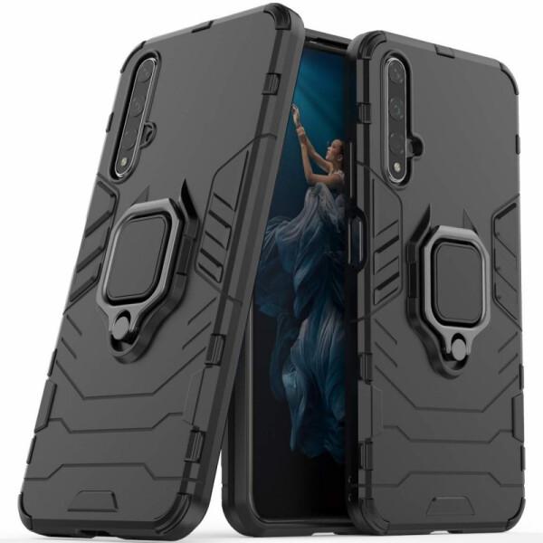 Купить Чехлы для телефонов, Ударопрочный чехол Transformer Ring под магнитный держатель для Huawei Honor 20 / Nova 5T (Черный / Soul Black) (784739), Epik
