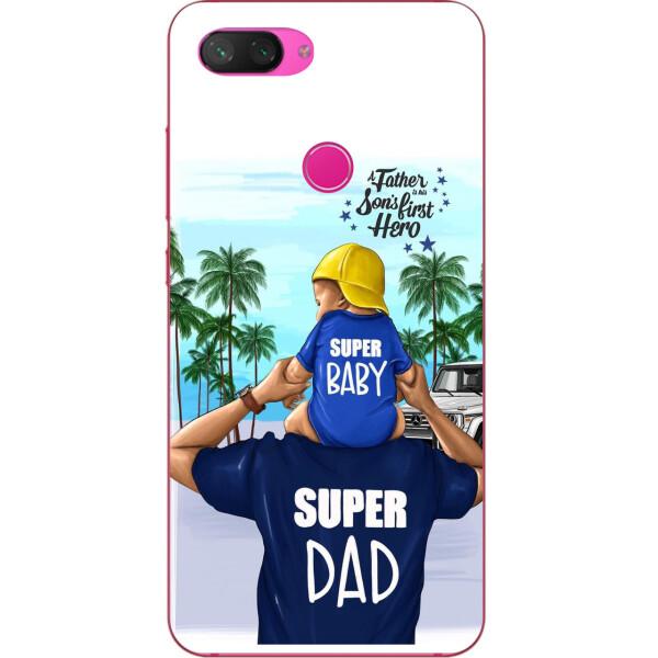 Купить Чехлы для телефонов, Чехол бампер Amstel для Xiaomi Mi 8 Lite с принтом Супер папа