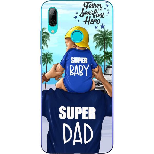 Купить Чехлы для телефонов, Оригинальный чехол накладка Amstel для Huawei P Smart 2019 с картинкой Супер папа