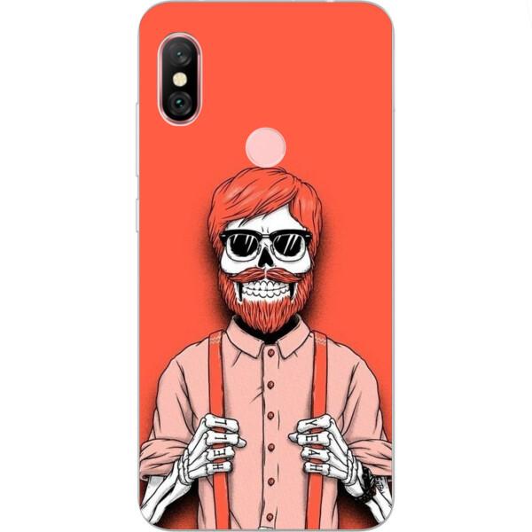 Купить Чехлы для телефонов, Силиконовый чехол бампер Amstel для Xiaomi Redmi Note 6 Pro с картинкой Скелет