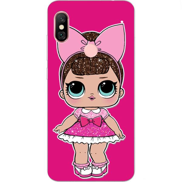 Купить Чехлы для телефонов, Силиконовый чехол бампер Amstel для Xiaomi Redmi Note 6 Pro с картинкой Кукла Лол