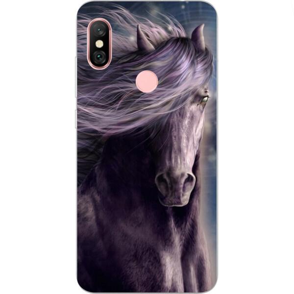 Купить Чехлы для телефонов, Силиконовый чехол бампер Amstel для Xiaomi Redmi Note 6 Pro с картинкой Лошадь