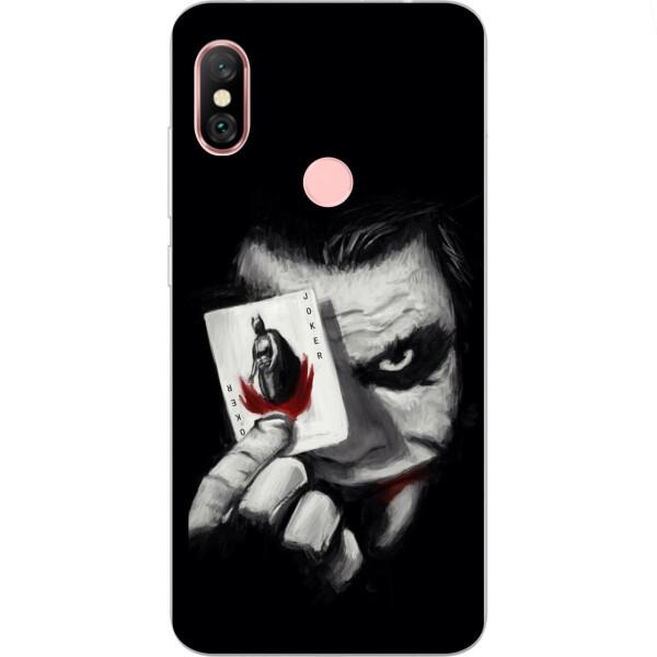 Чехлы для телефонов, Силиконовый чехол бампер Amstel для Xiaomi Redmi Note 6 Pro с картинкой Джокер с картой  - купить со скидкой