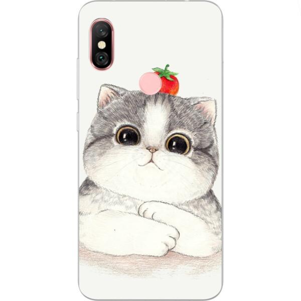 Купить Чехлы для телефонов, Силиконовый чехол Amstel с рисунком для Xiaomi Redmi Note 6 Pro Котенок